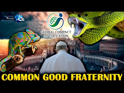 Pope Francis Global Compact On Education: PEACE, COMMON GOOD FRATERNITY. Chameleon And Serpent Venom