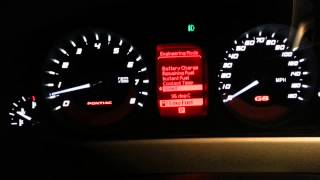 How to activate engendering mode on a pontiac g8