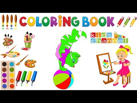 Baby Kids TV Drawing and Painting - Painting cat Coloring Pages for baby