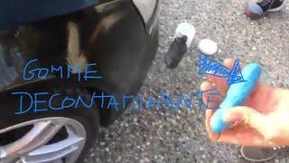 Entretien auto : décontamination à la gomme