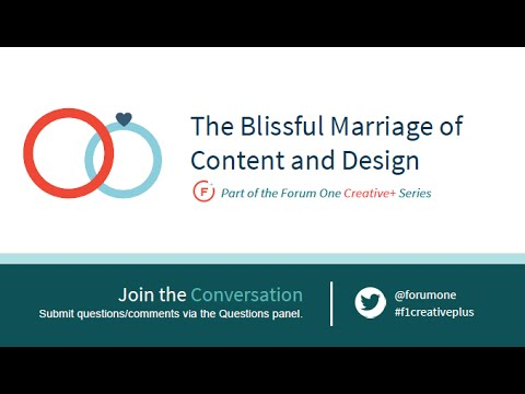 The Blissful Marriage of Content and Design