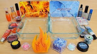 Fire vs Ice - Mixing Makeup Eyeshadow Into Slime Special Series 226 Satisfying Slime Video