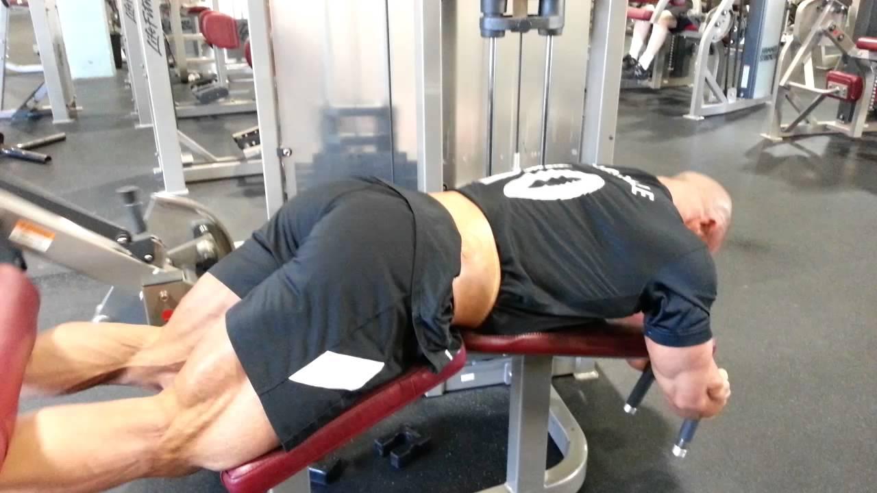 Hamstring Leg Press Lying Leg Curl Drop 11 8 14 Youtube