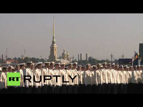 Russia: St. Petersburg celebrates Navy Day