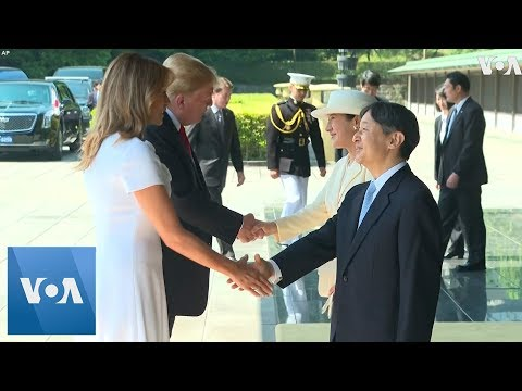 President Donald Trump Greeted by Japan's New Emperor Naruhito