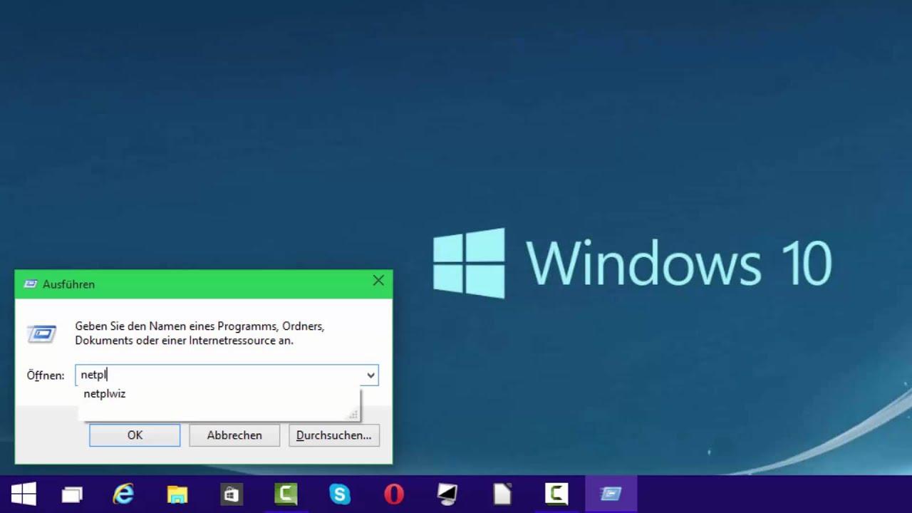 Abschalten anmeldung windows kennwort 10 So ändern