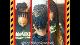 Ombre Box Braids tutorial Thumbnail