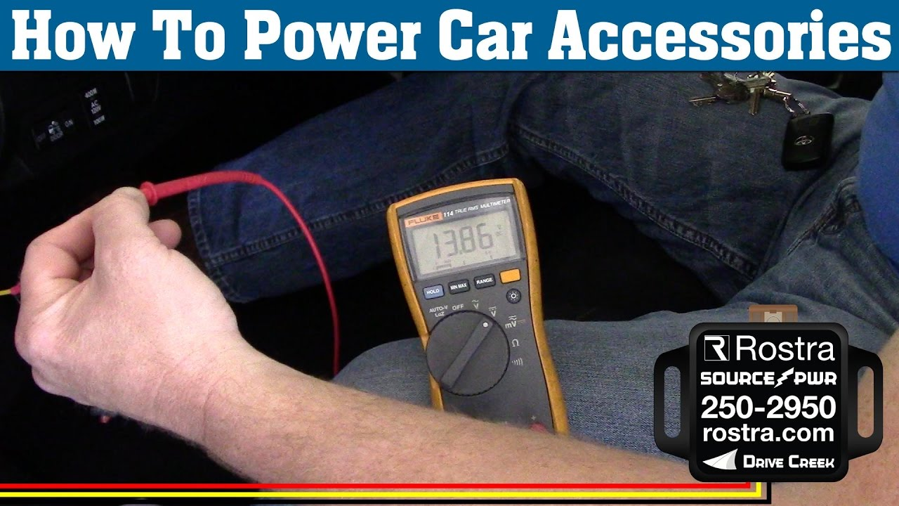 hight resolution of locate accessory power on car