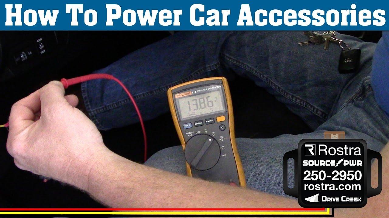medium resolution of locate accessory power on car