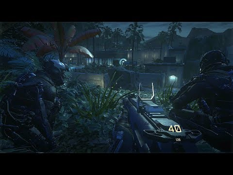 Amazing Night Stealth Mission from FPS Game on PC Call of Duty Advanced Warfare