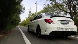 ARMYTRIX Exhaust for Mercedes Benz C43/C450 AMG W205 on VC TUNING Youtube channel