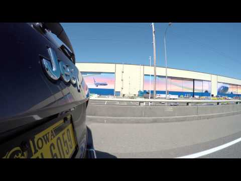Drive by Boeing Everett Factory / Paine Field in 4K by GoPro HERO4 Part 2