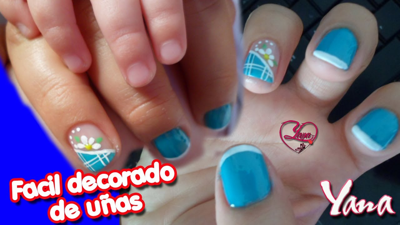 Sencillo Y Facil Decorado De U As Yana Nail Art Youtube: decorado de unas facil y sencillo