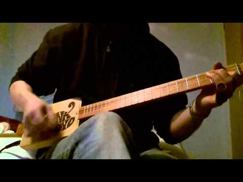 Pink Floyd 4 String Electric Cigar Box Guitar