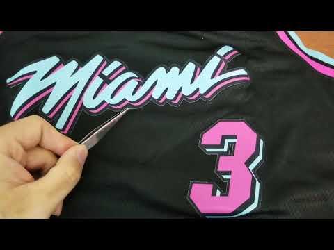 "Dwyane Wade Miami Heat City Edition ""Miami Vice Night"" Swingman Jersey Review"