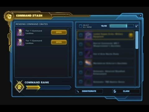SWTOR: 5.0- Opening 3 Command Crates - YouTube