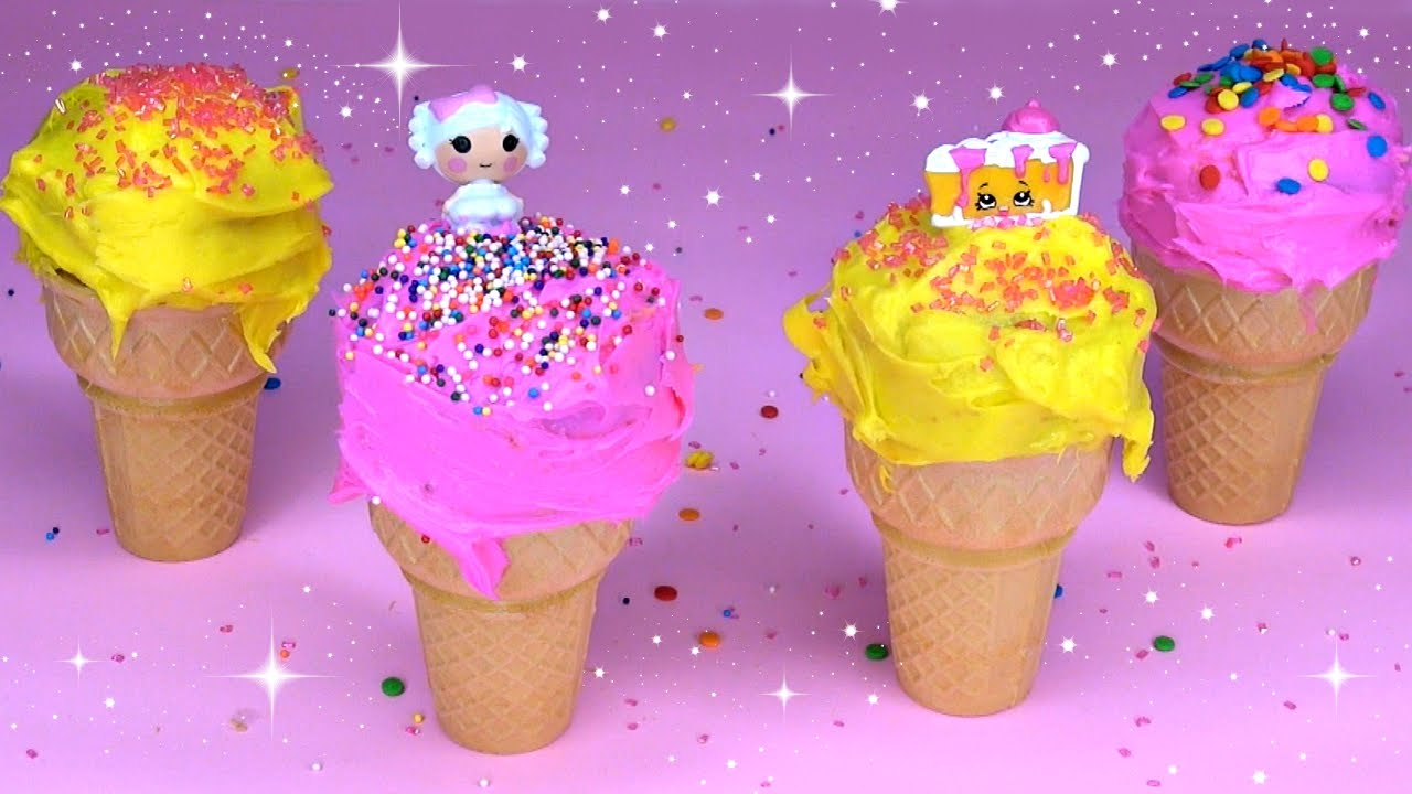 how to make ice cream cone cupcakes youtube