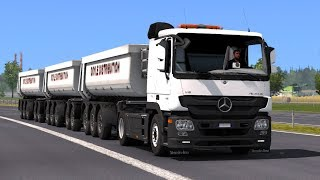 1 30 Euro Truck Simulator 2 Mercedes Actros MP3 Reworked v 2 2 Mods