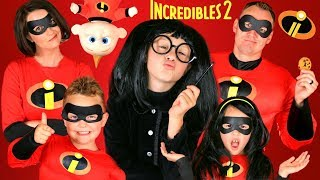 Disney Pixar Incredibles 2 Edna Mode Makeup and Costumes! Incredibles Family Lost Jack Jack!!! thumbnail