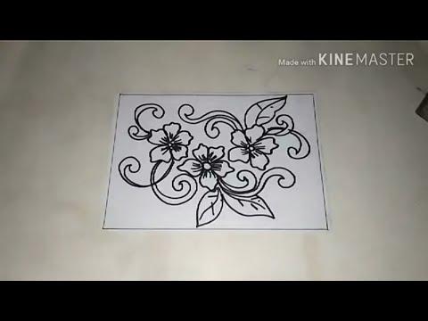 Cara Menggambar Batik Motif Bunga 3 Youtube