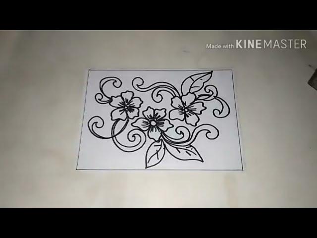 Cara Menggambar Batik Motif Bunga 3