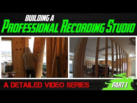 Building A Professional Recording Studio - Part 1 (outer wall construction)