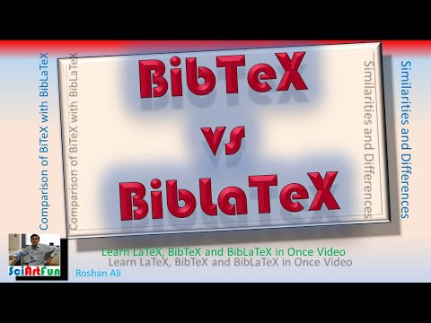Writing References in BibTex and BibLaTex: Differences and Similarities
