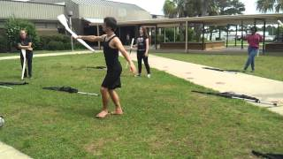 West Florida High School Color Guard Rifle Routine for the Opener