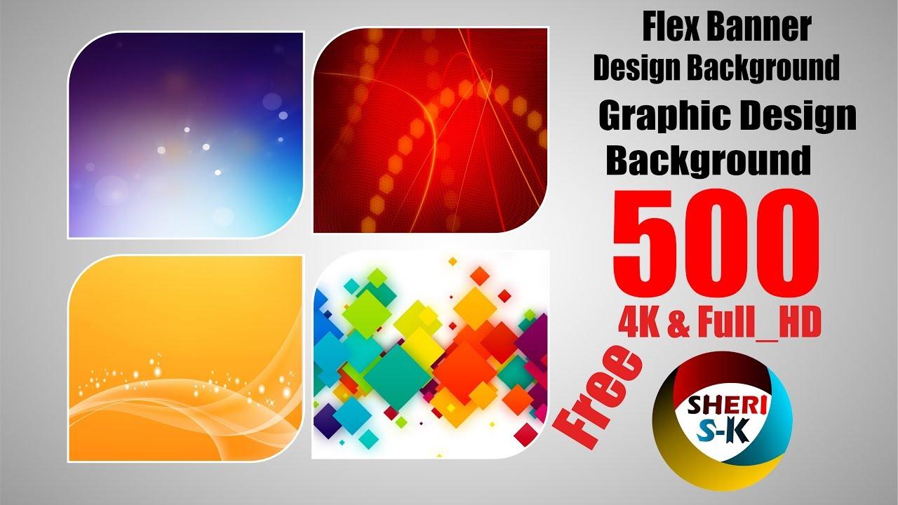 Flex Banner Design Background In 4k Full Hd 500 Files Free Download Youtube