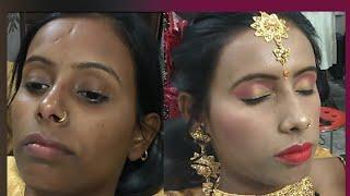 Dark Skin party makeup कैसे करे step by step ( Hindi )