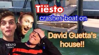 Tiësto crashed boat on David Guetta 's Miami house / Tiësto choca su bote en la casa de David Guetta