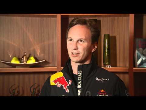 Post Race Interview Japan - Vettel, Horner, Newey, Ricciardo