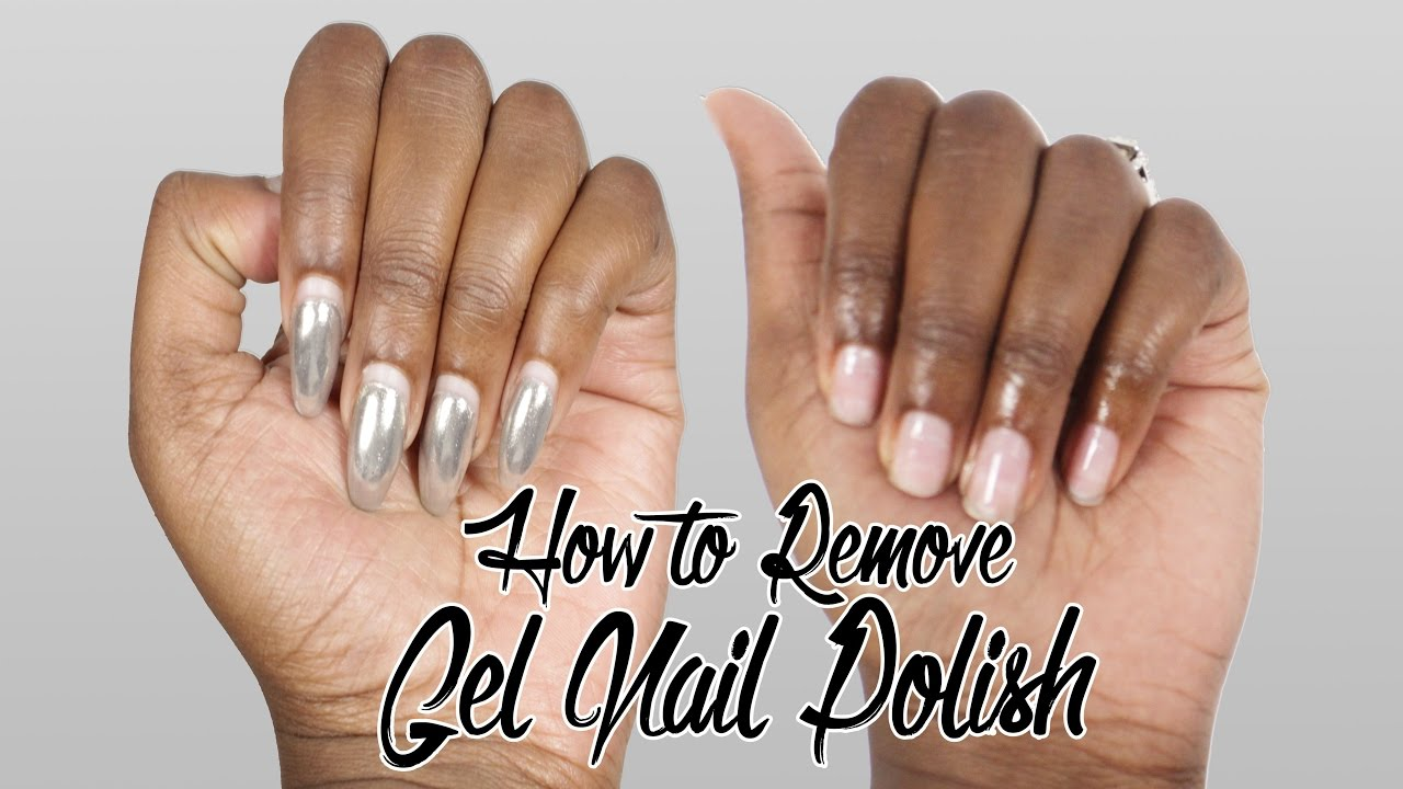 HOW TO REMOVE GEL NAILS AT HOME - YouTube