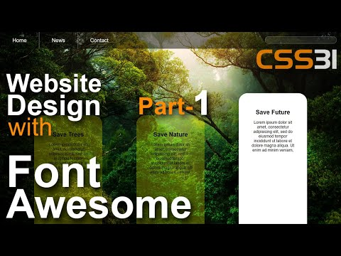 Website Design With Font Awesome Icon Html CSS Tutorial In Hindi / Urdu Part-1 CSS-31