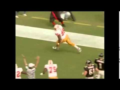 Warren Sapp TD INT against Jeff George and the Falcons 1995