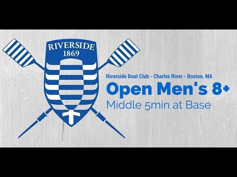 Riverside Boat Club Open Men's 8+ Middle 5min at Base (Coxswain Recording)