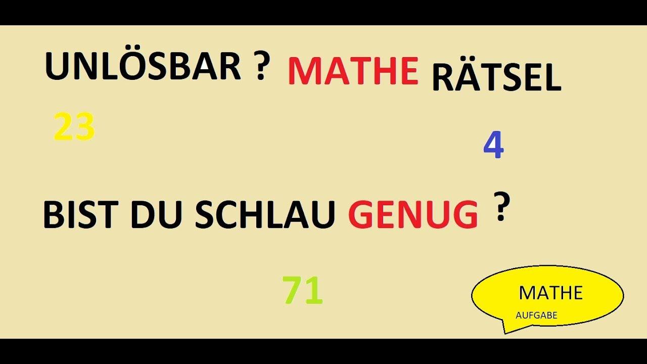 Mathe Rätsel Unlösbar