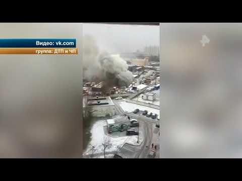 На северо-востоке Москвы сгорел автосервис