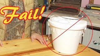 Styrofoam Minnow Bucket Fail - You've Been Cheated