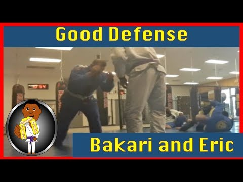 BJJ Roll No. 93 - Good Defense - Bakari with Eric at Smiley Academy