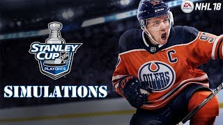 NHL 18 Playoff Simulations (Round 1 Continued, Games 4/5)