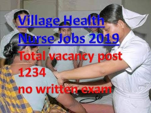 tamilnadu Village Health Nurse jobs 2019