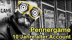 In 10 Jahre alten Pennergame Account eingeloggt!