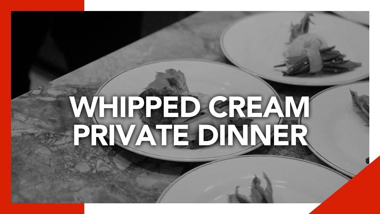 Whipped Cream Private Dinner   Chef Boris   Private Dinner in Miami