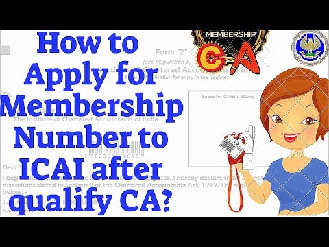 How to apply for Membership of ICAI-by newly qualified CA's