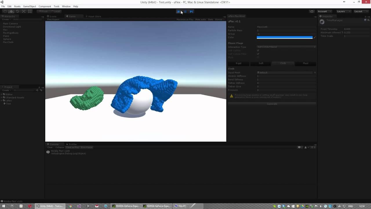 uFlex - NVidia FleX plugin for Unity3D [v0 1] - QuickStart Guide