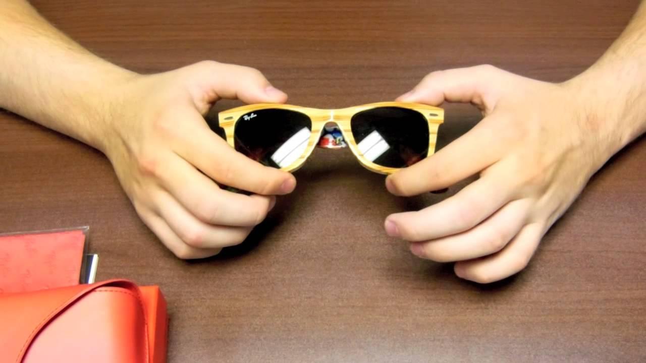 Lovely Wooden Ray Ban Wayfarer Sunglasses #XO27
