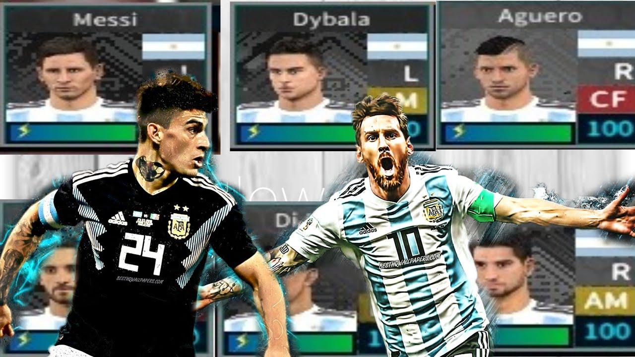 إضافة منتخب الأرجنتين في لعبة دريم ليج/تحميل داتا منتخب الأرجنتين