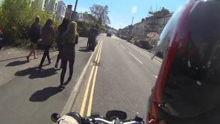 How to scare people with a motorbike