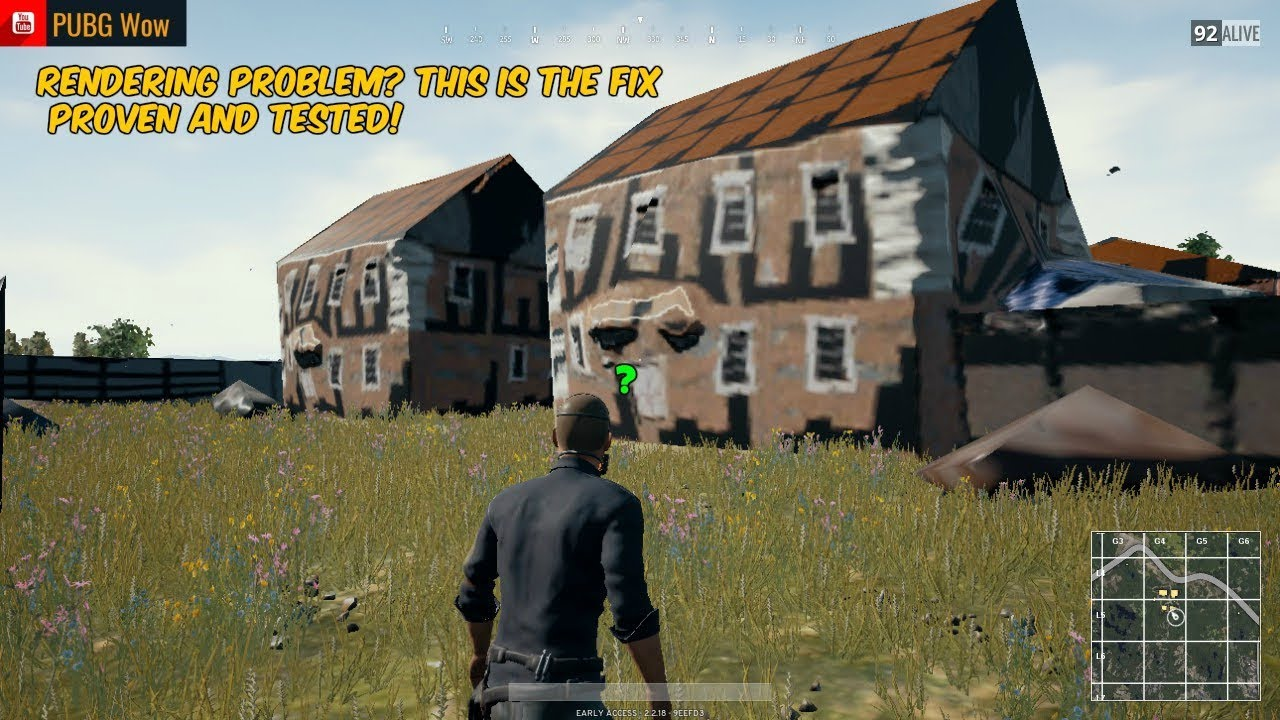 Pubg Sticker Hd: PUBG Buildings Rendering FIX (Proven And Tested)